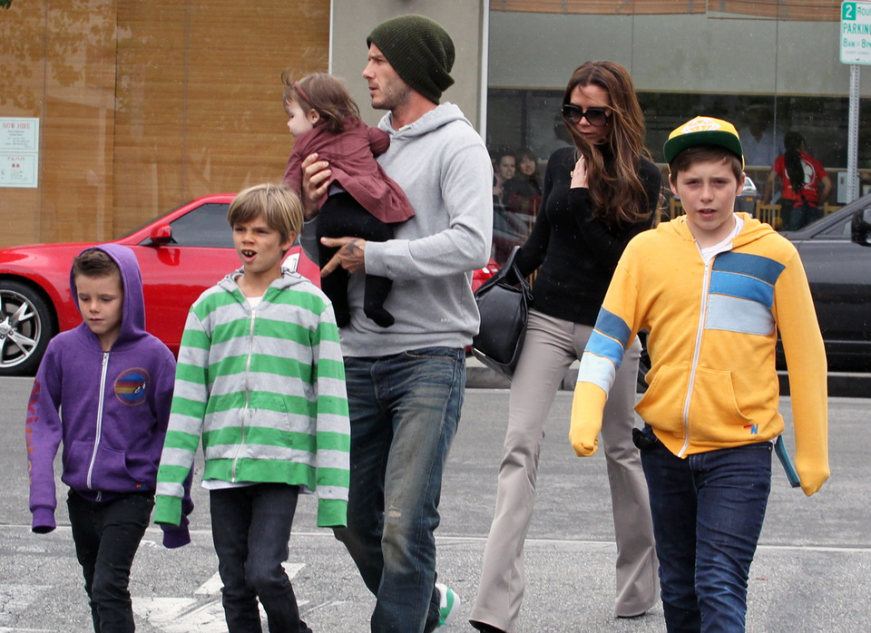 The Beckham Family Grabs Lunch At Tsujitsa Artisan Noodles